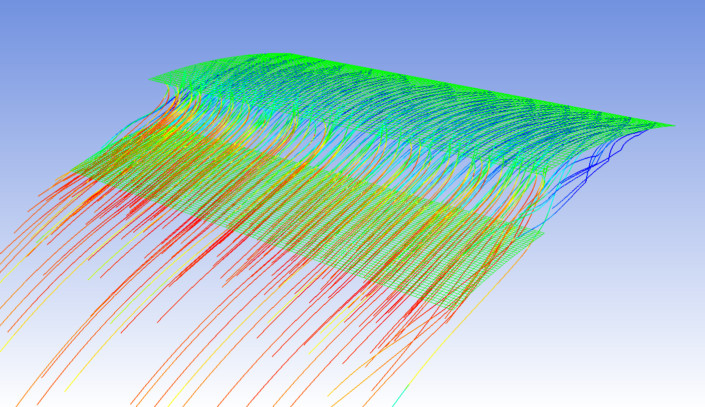 CFD simulation of flow through the nozzle